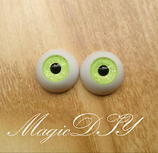 12mm Hand Made BJD Doll Eyes Green Sand Acrylic Half Ball