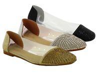 LADIES BALLERINA SHOES FLAT CASUAL SUMMER SLIP ON WOMENS  SANDAL  UK Size 3-8