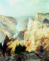 Grand Canyon Of The Yellowstone Park Thomas Moran Fine Art Print on Canvas Small