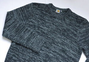Carhartt Accent Sweater WOOL Jumper men Pullover top size L Large grey Heather