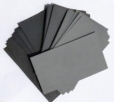 "FINE SANDPAPER Wet/Dry 15 sheets 3"" x 5.5"" COMBO 1000/1200/1500/2000/2500  Grit"