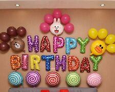 20+ Line Birthday Party Mylar/Foil Balloon Sets