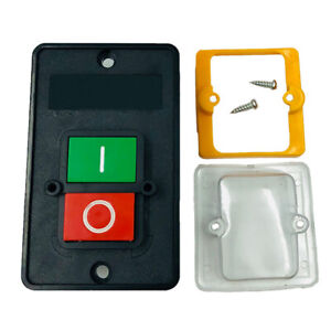 On/Off Water Proof Start Stop Push Button Switch for Drill Press Grinder AU