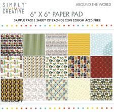 DOVECRAFT SIMPLY CREATIVE AROUND THE WORLD PAPERS  6 X 6 SAMPLE PACK  15 SHEETS