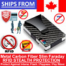 Metal Carbon Fiber Slim Credit Card Holder RFID Blocking STEALTH FARADAY WALLET