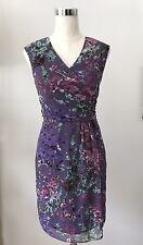 ADRIANNA PAPELL Lavender Floral Dress Sz 6P