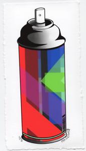 MR CLEVER ART CONTEMPORARY SPRAY CAN Color Plaid Op Art Street Art Deco Graffiti