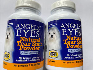 Lot of 2  Angel's Eyes Tear Stain Powder 2.65 Ounce, 75g Chicken Exp 02/2023