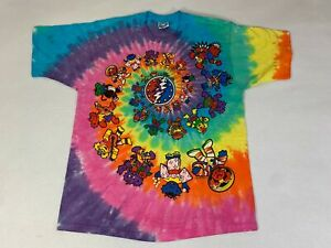 Grateful Dead Vintage 1996 T-Shirt Liquid Blue Size Large EXCELLENT RARE T8362