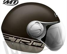 Jethelm Helm MT Helmets Urban II, XL, Braun Matt, langes Visier