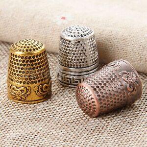 1pcs Dressmakers Vintage Metal Finger Thimble Protector Sewing Neddle Shield