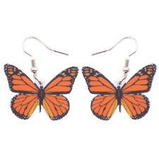 Acrylic Monarch Butterfly Earrings Dangle Drop Insect Jewelry For Women New Gift
