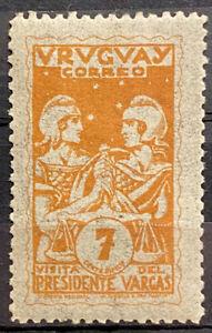 URUGUAY - VISIT OF PRESIDENT VARGAS - MH STAMP