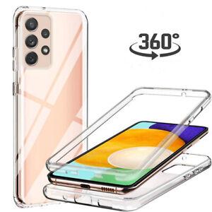 Hülle Samsung iPhone 360 Grad Handy Case Full Cover Tasche Klar Schutzhülle