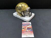NFL TOP 100 FRANK GORE SIGNED GOLD SPEED MINI HELMET JSA WITNESS COA 49'ERS HOF!