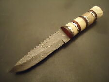 "Pioneer Damascus Steel Hunting  Knife With Paka Wood 9"" PT-2449 NEW ARRIVAL 2018"