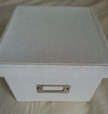 Square Fabric Hard Side Storage Box with Lid