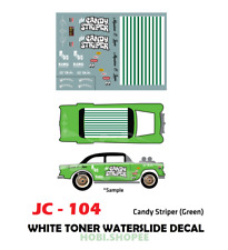 JC-104 White Toner Waterslide Decals> CANDY GREEN > For Custom 1:64 Hot Wheels