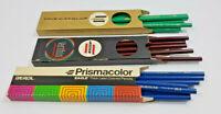 Vintage Eagle Prismacolor Verithin Thick Lead Lot True Green Carmine Red Blue