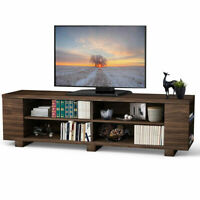 "59"" Wood TV Stand Console Storage Entertainment Media Center w/ Adjustable Shelf"