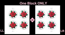 US 5311 Holiday Poinsettia global forever plate block MNH 2018
