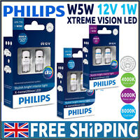 Philips  X-treme Vision LED Bulbs Car W5W 501 T10 WHITE Xenon 4000K 6000K 8000K