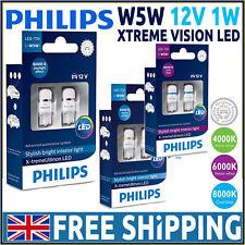 Philips X-treme Vision W5W Bombillas LED Coche Interior Blanco Xenon 4000K 6000K 8000K