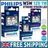 Philips  X-treme Vision LED Bulbs Car W5W 501 T10 WHITE Xenon 4000K 6000K 8000K