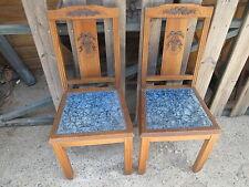 Lot 2 anciennes chaise vintage dessus velours décor Louis XV années 1950