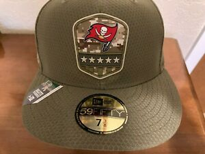 New Era Tampa Bay Buccaneers Salute to Service Hat NEW ERA 59Fifty  Sz 7 3/8