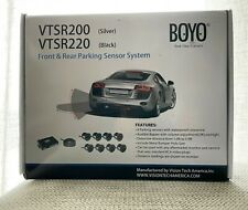 Boyo Vtsr200 4 Rear and 4 Front Parking Sensors Chrome