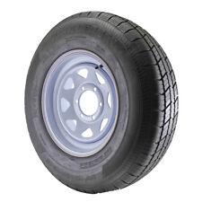 ST235/80R16 Globaltrax Trailer Tire LRE on 6 Bolt White Spoke Wheel