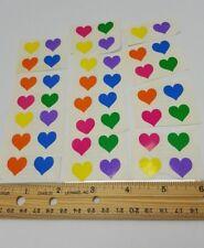 Mrs Grossmans Multi Color Heart Sticker Lot 44 1980s 1981 USA .5 inch
