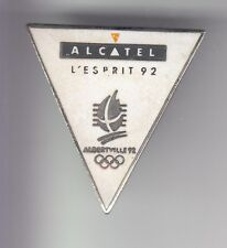 RARE PINS PIN'S .. OLYMPIQUE OLYMPIC ALBERTVILLE 1992 ALCATEL COJO 1991 N°1 ~17