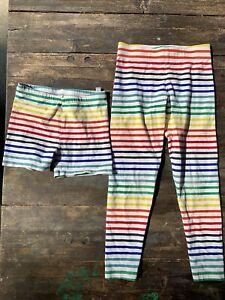 Primary Girls Rainbow Leggings & Bike Shorts size 6/7