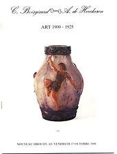 catalogue vente aux enchères Art 1900 1925 17 octobre 1980 Nouveau Drouot