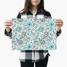 A3| Paisley Abstract Oriental Floral - Size A3 Poster Print Photo Art Gift #2549
