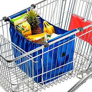 Faltbare Einkaufswagentasche Einkaufstasche Einhängetasche für Einkaufswagen