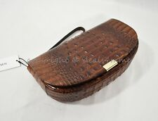 NWT Brahmin Sandrine Leather Clutch/Wristlet in Washed Pecan Melbourne
