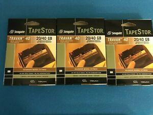3 NEW Seagate TapeStor 20Gb/40GB TR-7 Travan  Data Tape Cartridges STTM40