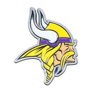 Fanmats NFL Minnesota Vikings Diecast 3D Color Emblem Car Truck RV 2-4 Day Del.