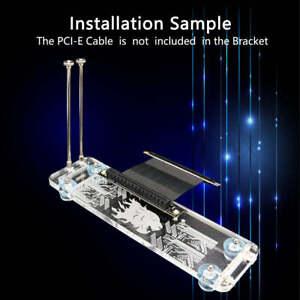 PCI-E 3.0 16X Graphics Card vertical kickstand/base w/ RGB LED Light F DIY case