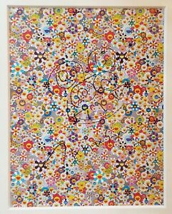 "TAKASHI MURAKAMI's Felt-tipped pen on offset Lithograph ""Untitled"" (DOB Flowers)"