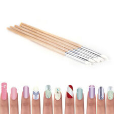 5Pcs Nail Art Silicone Rubber Brush Drawing Pen Dotting Tool Carving Portable HL