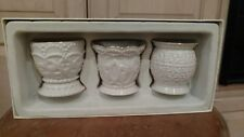 Lenox Classic Beaded Tealights Set of 3 new in box without lid