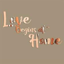 Love Wall Sticker Decoration Personalised Rose Gold Art Bedroom Home Decor 24 in