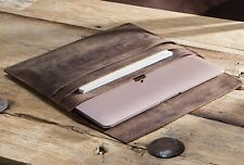 Multi-Function Real Leather Laptop Sleeve Pouch Case For Macbook 12""