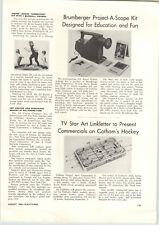 1962 PAPER AD Article Gotham Hockey Toy Play Game Electric Slide Action