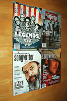 American Songwriter Magazine Lot of 4 Assorted Back Issues Music Song