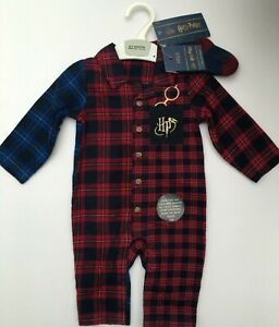 M&S HARRY POTTER Baby Grow with Matching Socks 0-3 or 3-6 months RRP £16